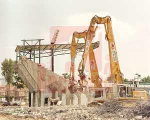 Demolición Campo de Fútbol del Real Betis