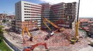 Demolición Hospital Marqués de Valdecilla